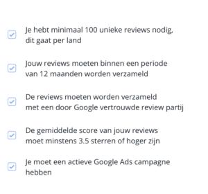 Checkbox - Google Seller Ratings