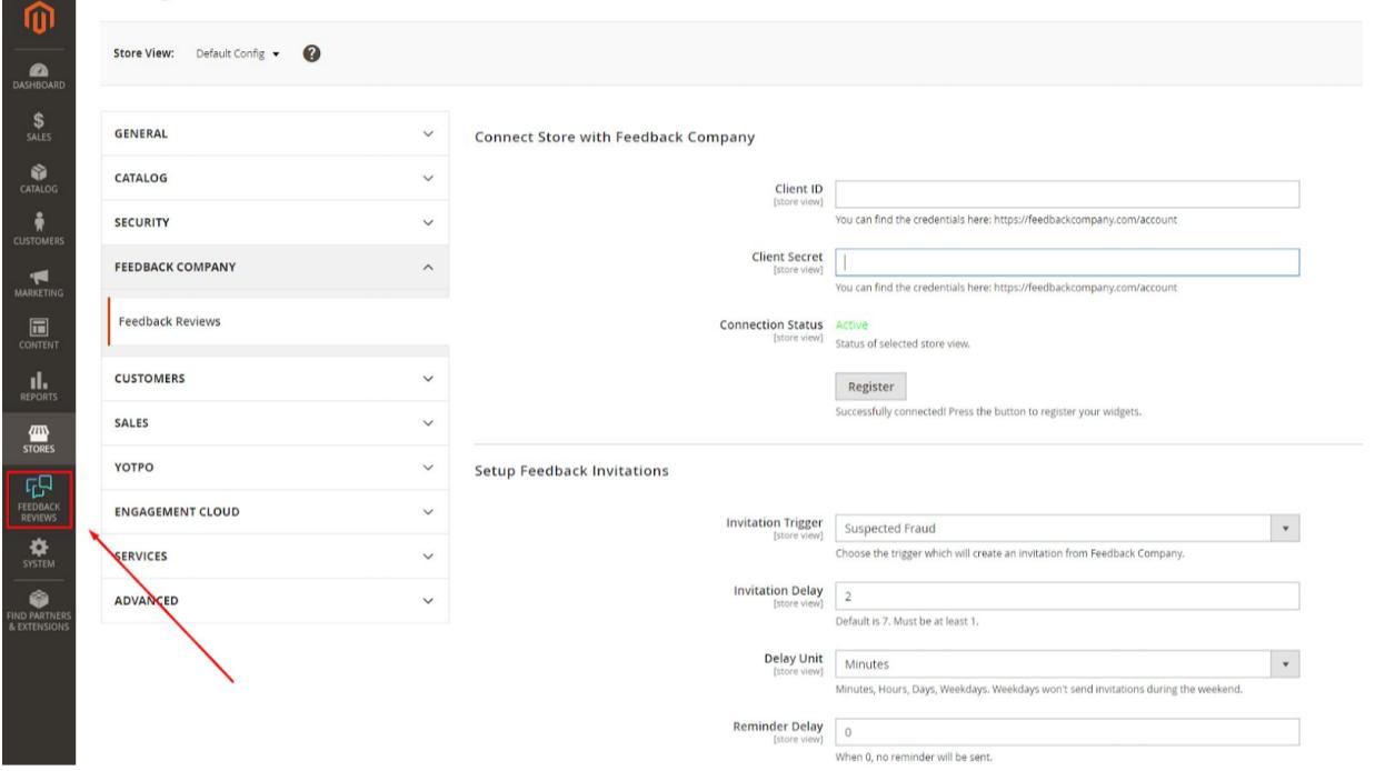 Hoe installeer ik Feedback Company plug-in op Magento 2?