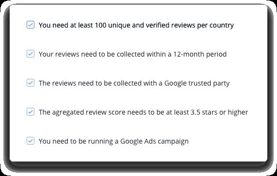 google seller ratings checklist